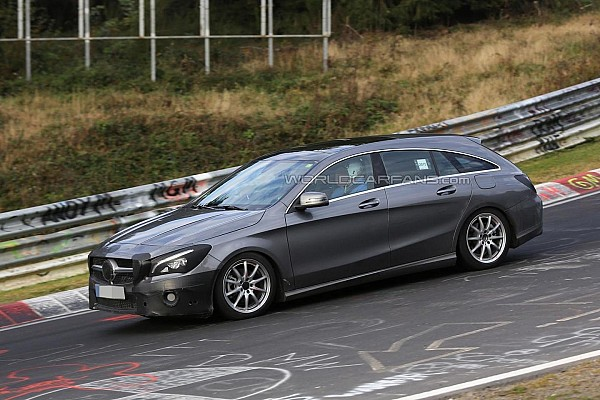 2016 Mercedes CLA Shooting Brake facelift spied on the Ring