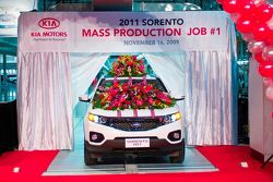 2011 Kia Sorento Rolls of Production Line