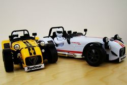 Caterham Superlight R500 scale model with Stig figure