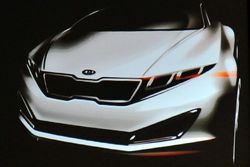Kia K9 luxury sedan teaser sketch presented at Songdo design conference - 500
