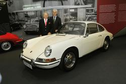 Dr. Wolfgang Porsche and Matthias Müller at Porsche Museum 50 Years of 911 anniversary exhibition 05.6.2013